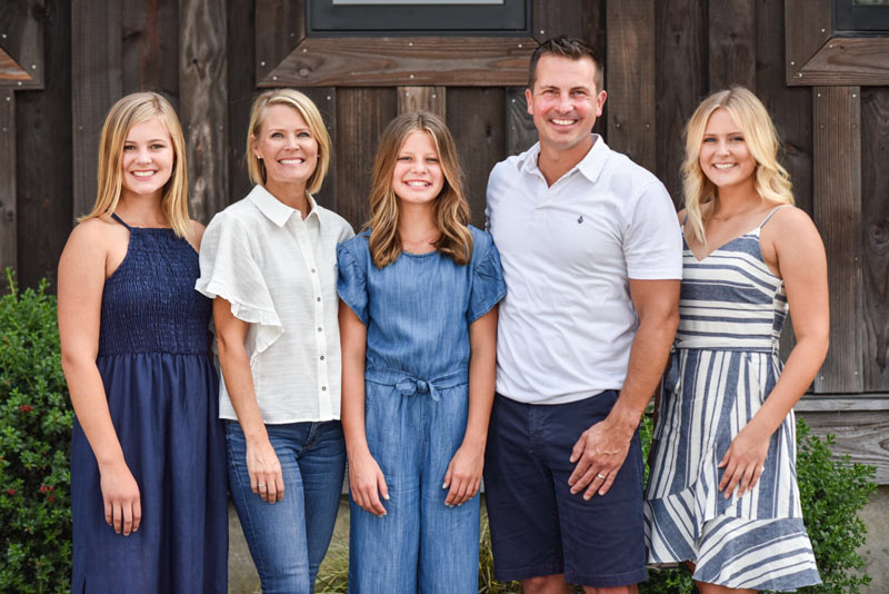 Anthony Nelson and his family